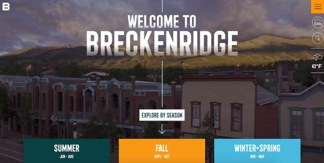 Breckenridge Travel Website Design
