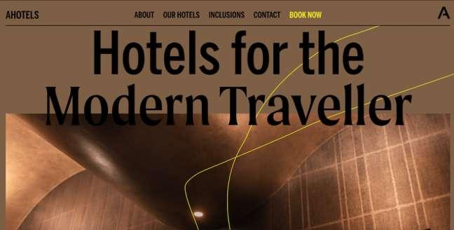 AHOTELs Travel Website Design
