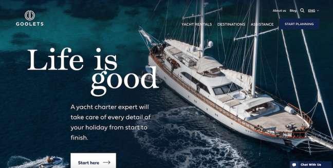 Goolets Travel Website Design