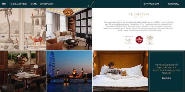 Flemings Mayfair Travel Website Design