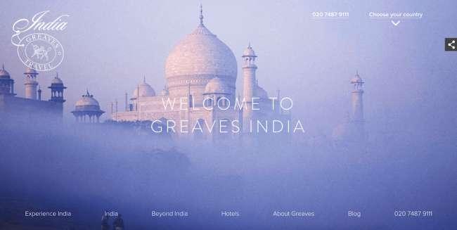 Greaves India Travel Website Design