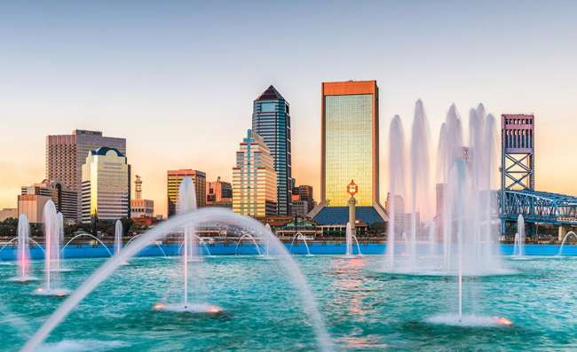 View of Jacksonville's business district