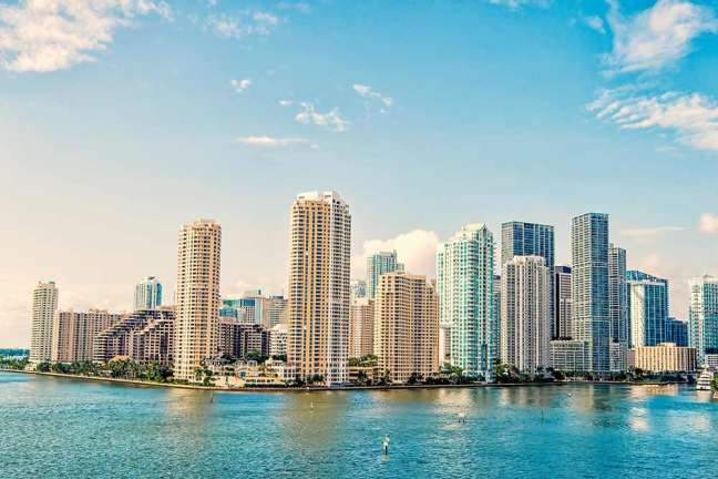 view of Miami's business district