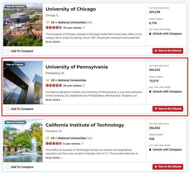 branding agencies in Philadelphia: best national universities rankings