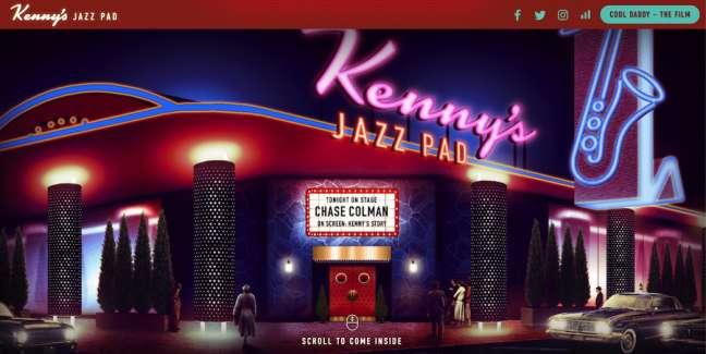 Kenny's Jazz Pad Film Website Design