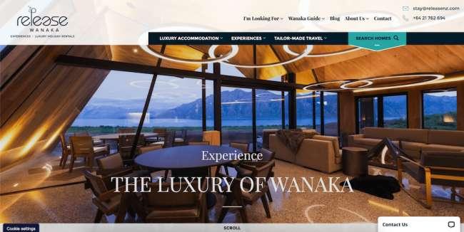 Release Wanaka travel website design