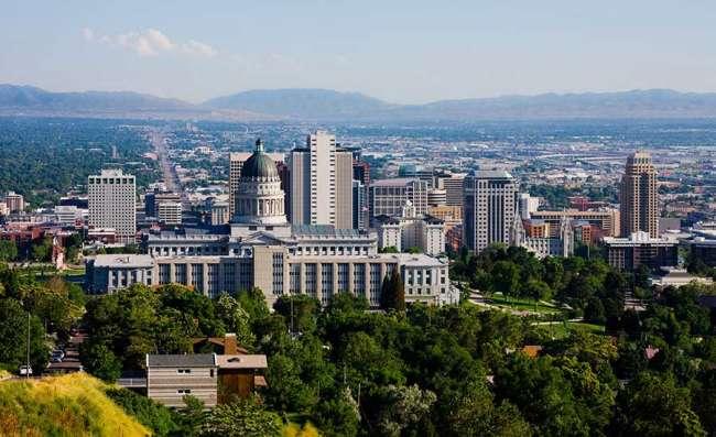 web design salt lake city: view of Salt Lake City in the state of Utah