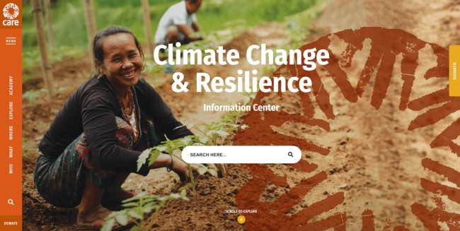 Care Climate Change & Resilience Best News & Magazine Website Designs