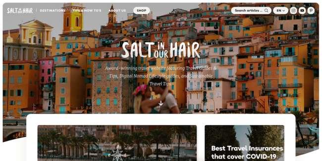 Salt in Our Hair Best News & Magazine Website Designs