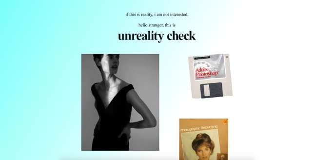 unreality check Photography Website Design