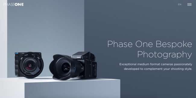 Phase One photographer websites