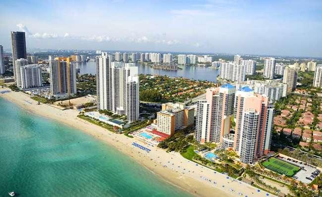 aerial view of Miami, Florida