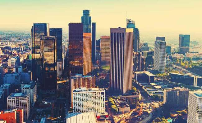Business area in Los Angeles