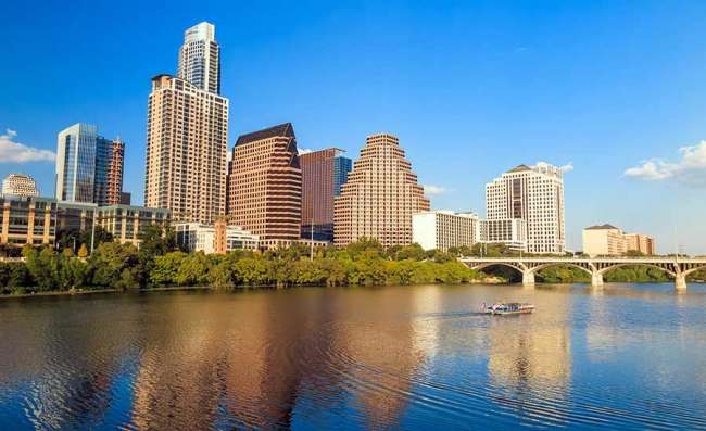 panoramic view of Austin city in Texas