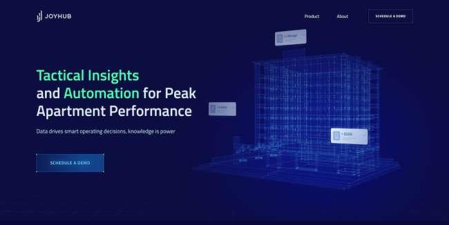 Joy Hub tech web design