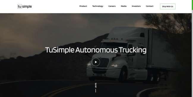 Tu Simple tech web design