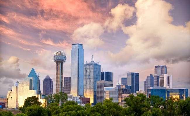 aerial view of Dallas city