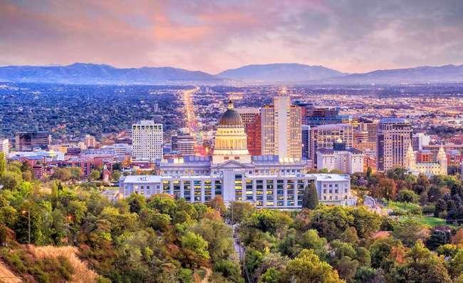 view of Salt Lake City in Utah