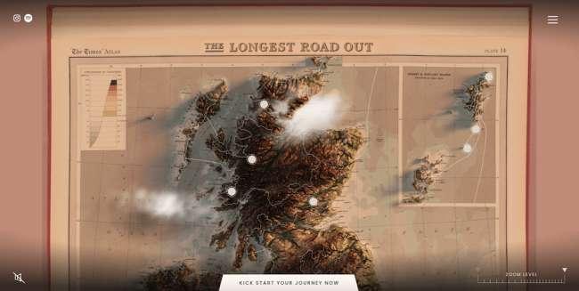 The Longest Road best educational website designs