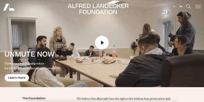 Alfred Landecker Foundation best educational website designs