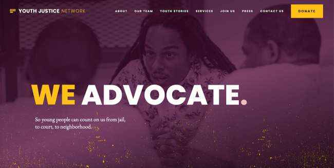 Youth Justice Network best educational website designs