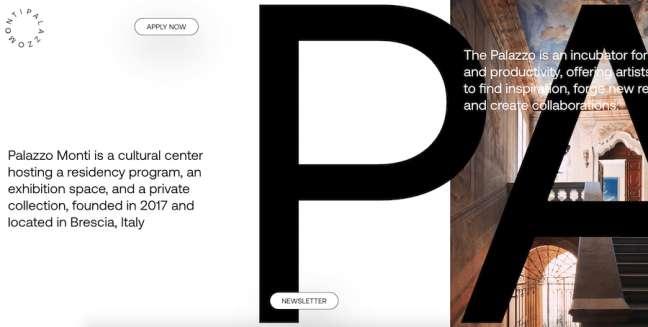 Palazzo Monti best educational website designs
