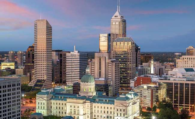 aerial view of Indianapolis