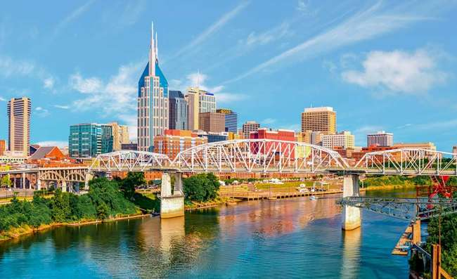 view of downtown Nashville