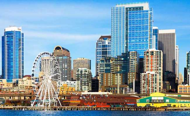 skyscrapers in downtown Seattle