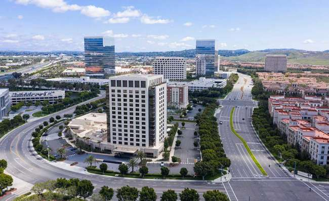view of downtown Irvine in Orange County