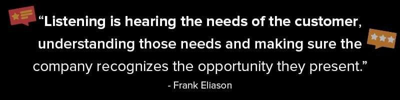 Market Research Companies Understand Consumers Needs Quote Frank Eliason