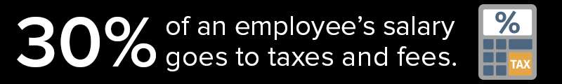 Outsourcing Companies Save Companies 30% Of An Employees Salary From Taxes And Fees
