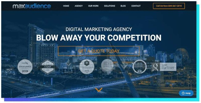 MaxAudience - DesignRush Top Digital Agencies Directory