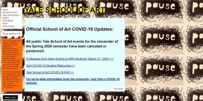bad websites: Yale School Of Art