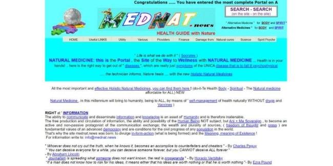 worst websites: Natural Medicine