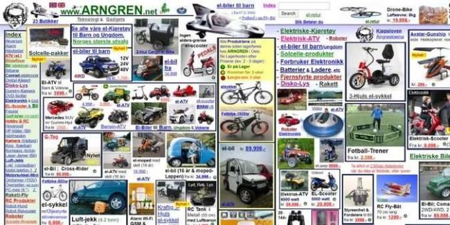 poorly designed websites: Arngren