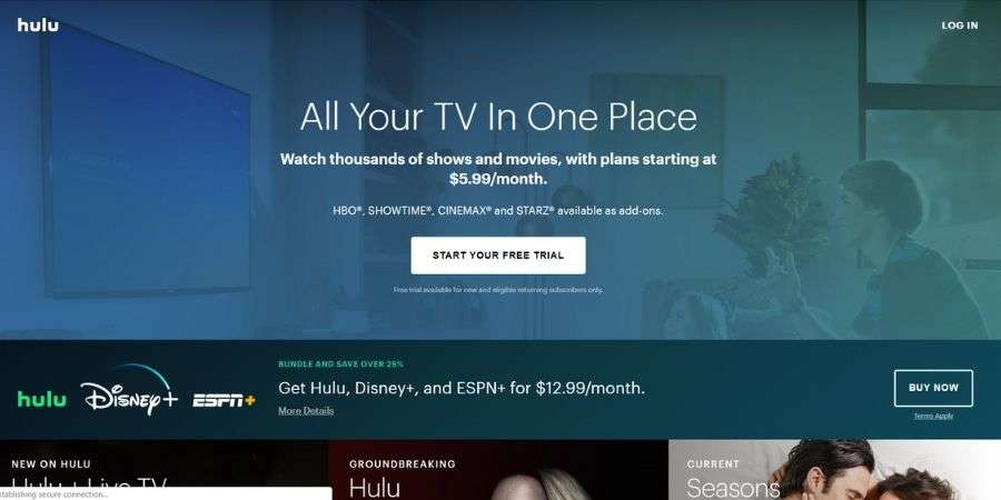 Best streaming websites: Hulu