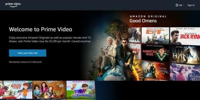 Best streaming websites: Amazon Prime Video
