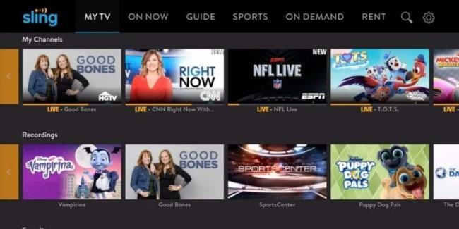 Streaming website: Sling TV