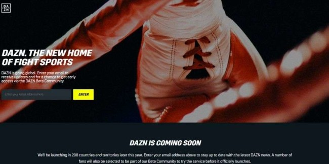 DAZN website