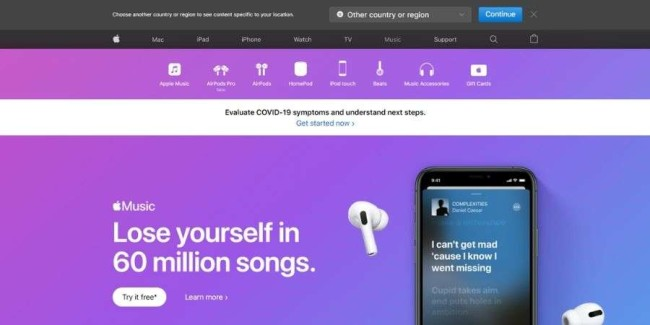 Music streaming websites: Apple Music
