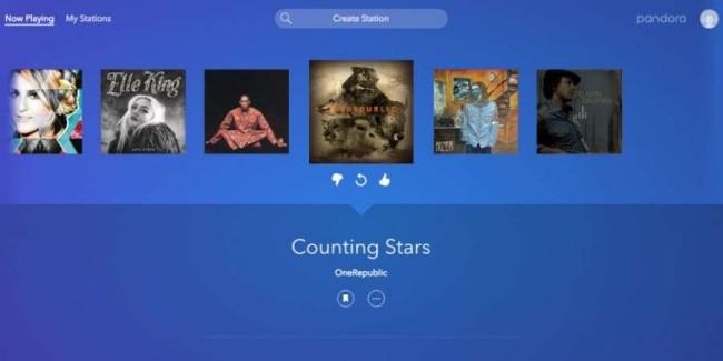 Pandora Music website