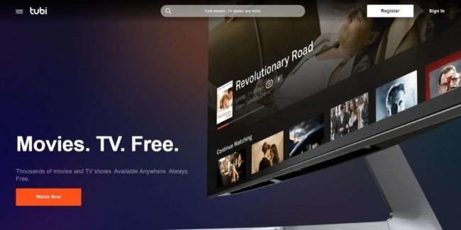 Movie streaming websites: Tubi