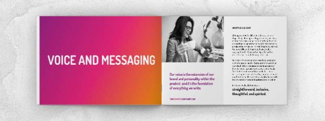 Brand voice and messaging