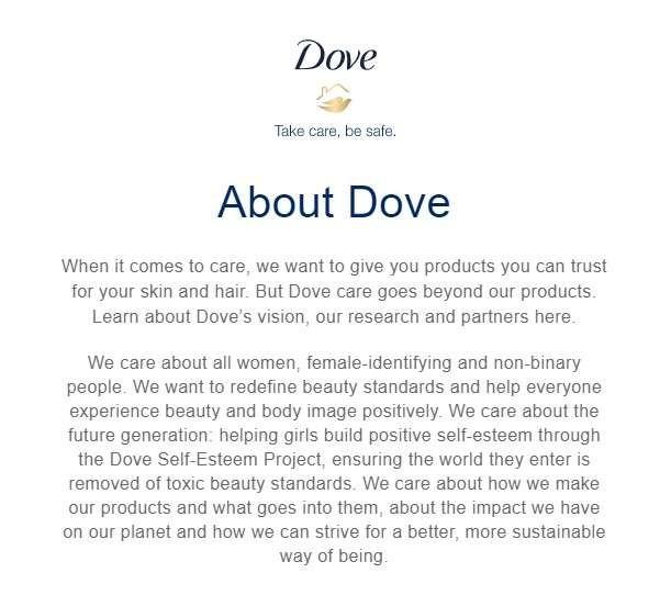 Dove's brand voice