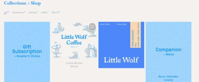 Little Wolf's brand visual identity