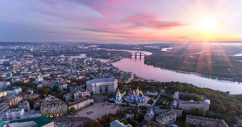 Ukraine skyline