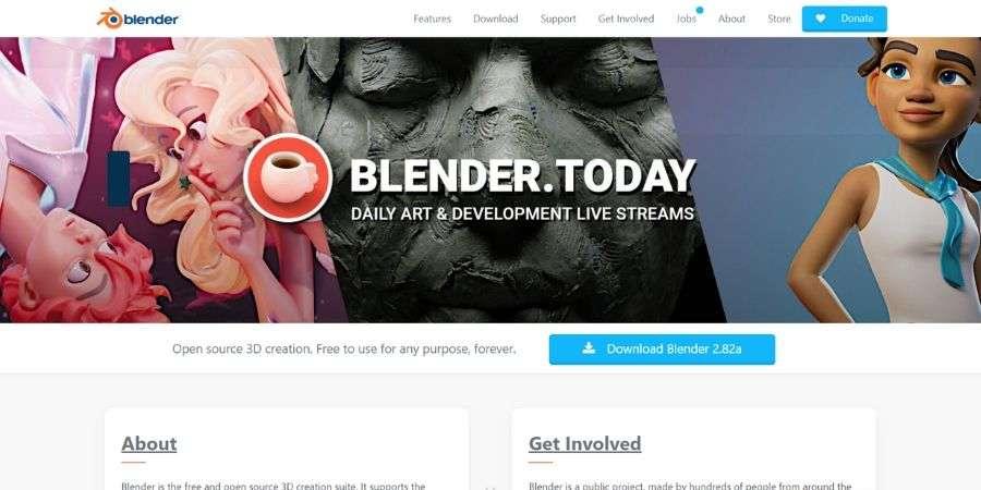 open source software solution: Blender