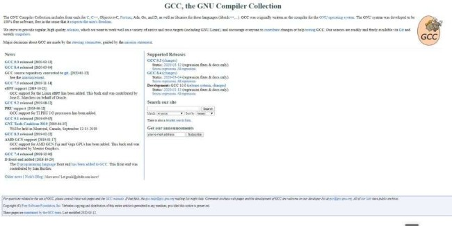open source software examples: GNU Complier Collection