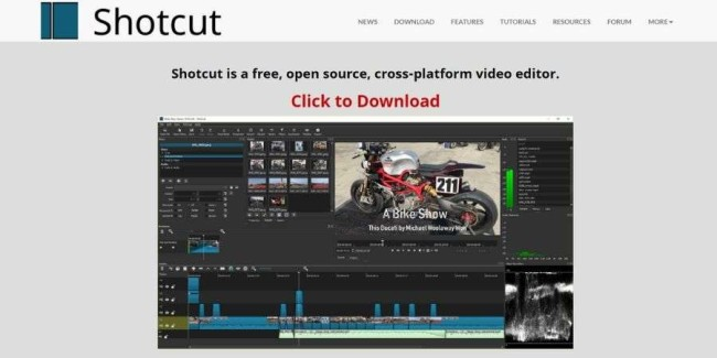 open source software examples: Shotcut